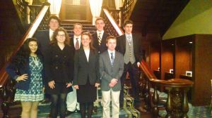 CCWA CCFR Dinner Dialogue on Brazil 22 Feb 16 Pic (HMUN16 Group) on the Union Club stairs (1)
